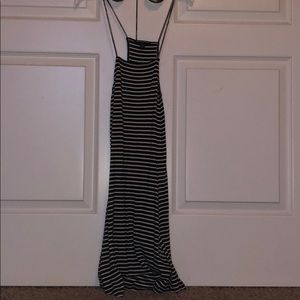 black and white stripped brandy melville dress